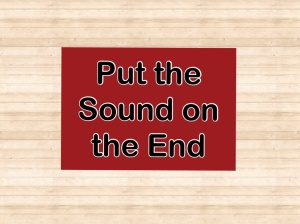 put the sound on the end