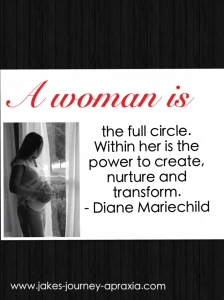a woman is