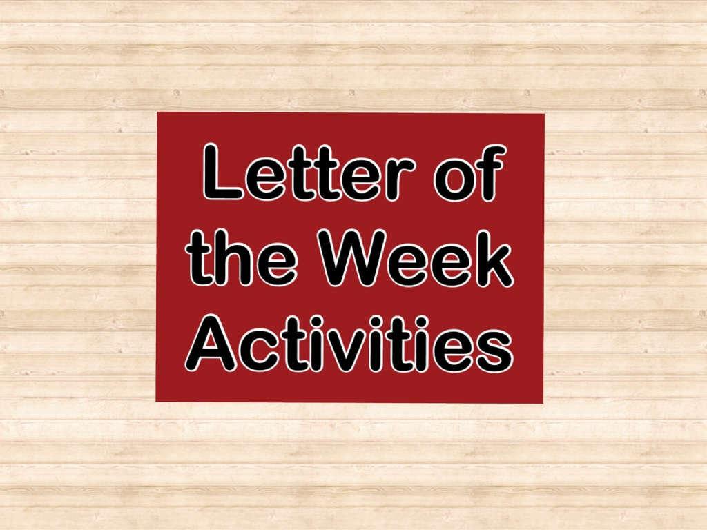 Letter of the Week Activities – Wanted Poster Letters
