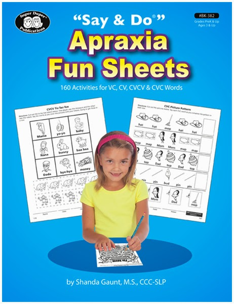 apraxia fun sheets